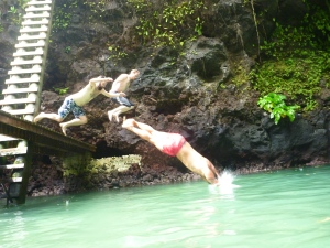 Jumping in To Sua Trench