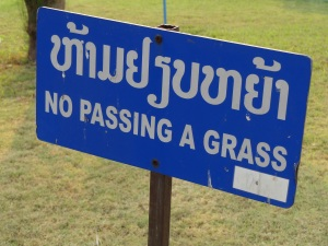 no_passing_a_grass_sign